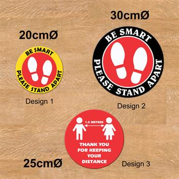 FG1 - Social Distancing Floor Graphics - Round