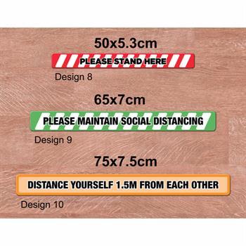 FG3 - Social Distancing Floor Graphics - Rectangle Medium