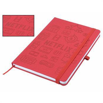 J73Sea - Designa Deboss Linen Notebook A5 Sea