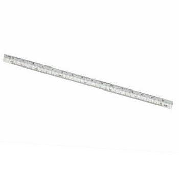 C3604 - Tri-Side Scale Rule, Silver