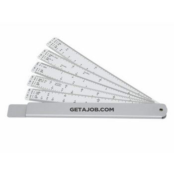 C3904 - Measure-Mate Scale Rule, Silver