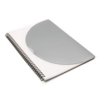 J0704 - Curve Notepad-Large-Silver