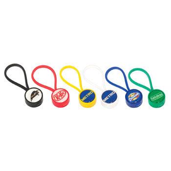 C8400ID - Globus Keyring Plastic Round-Indent