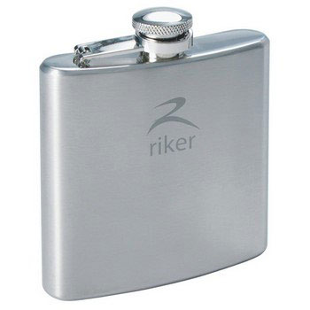 R5027 - Turin Hip Flask 6oz.