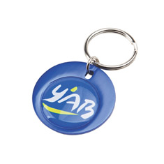 Rainbow Keyring (37mm round)-Indent