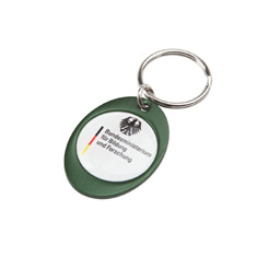 Rainbow Keyring (30x40mm oval)-Indent