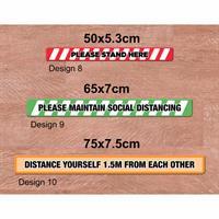 Social Distancing Floor Graphics - Rectangle Medium