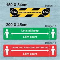 Social Distancing Floor Graphics - Rectangle Large