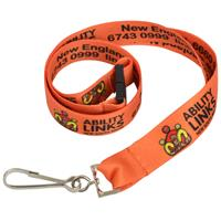 15mm Lanyard with Full Colour Print-Hook