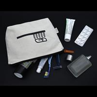 Calico Toiletry/Makeup Bag - 17cmx27cmx8.5cm