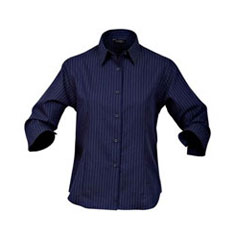 Pinpoint Business Shirt-Ladies 3/4 Sleeve